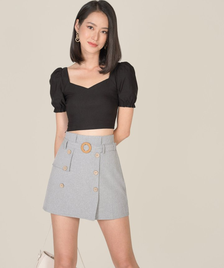 Andi Cropped Top - Black