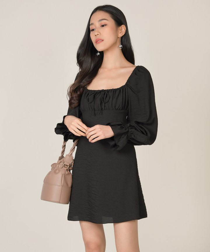 Camellia Ruched Dress (Backorder)