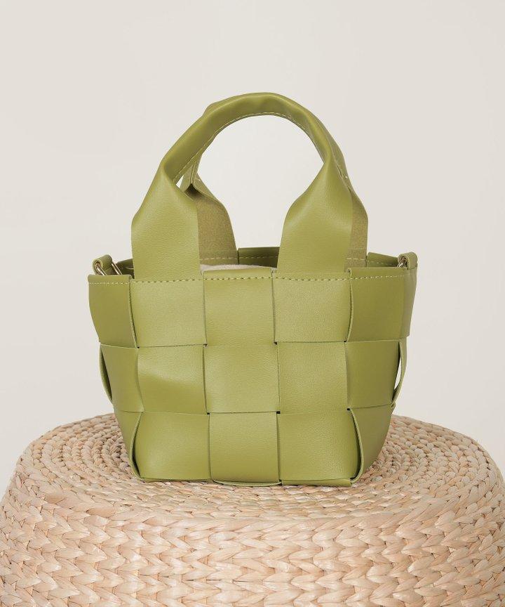 Candor Woven Bucket Bag