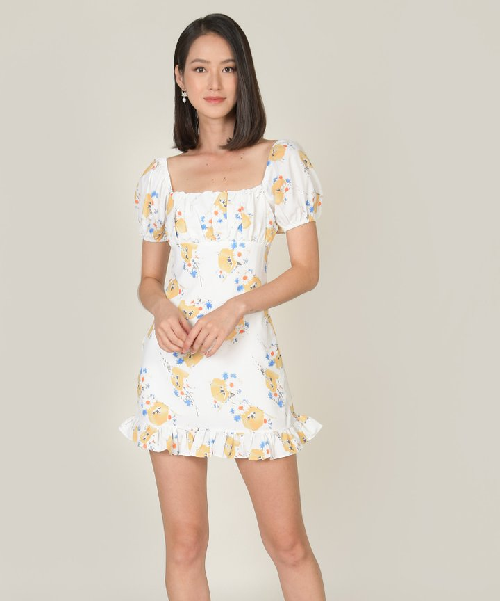 Frederika Floral Ruched Dress