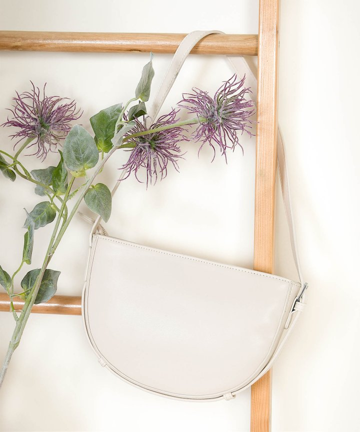 Karissa Semi-Circle Purse - Milk