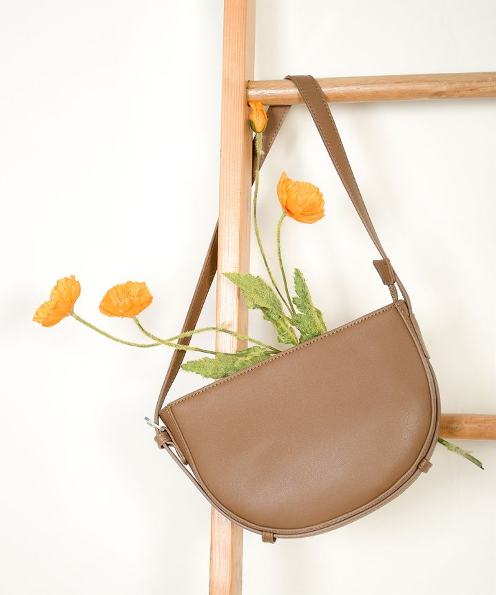 Karissa Semi-Circle Purse - Mocha