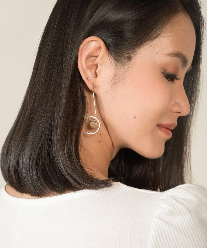 Klint Geometry Drop Earrings