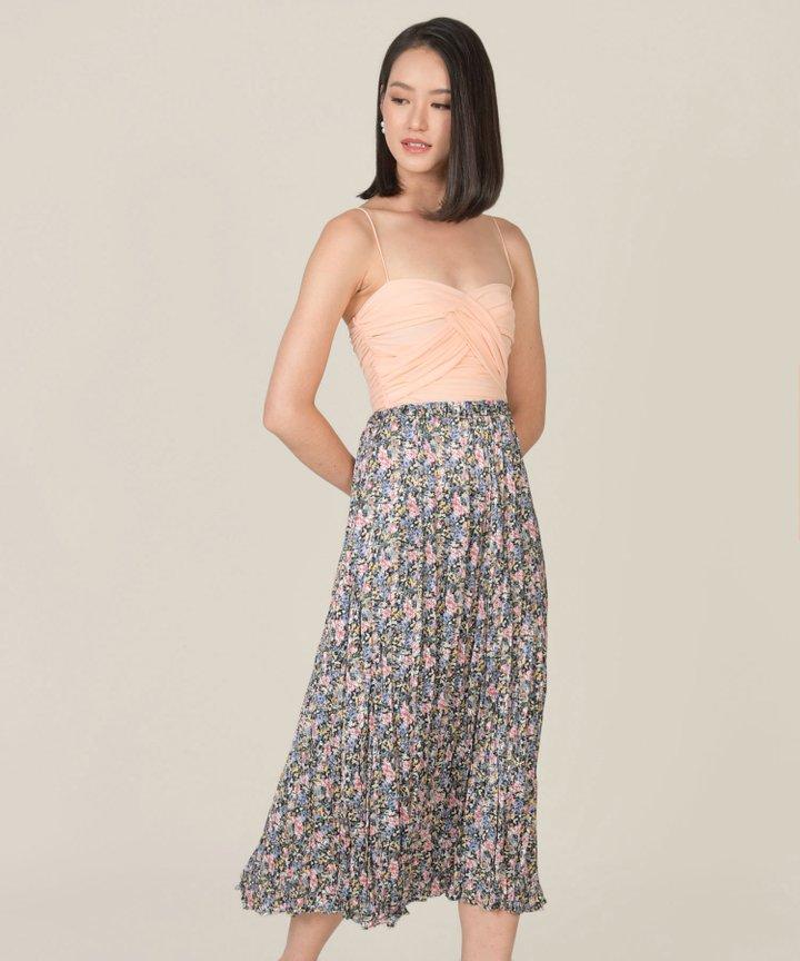 Mariette Floral Pleated Skirt