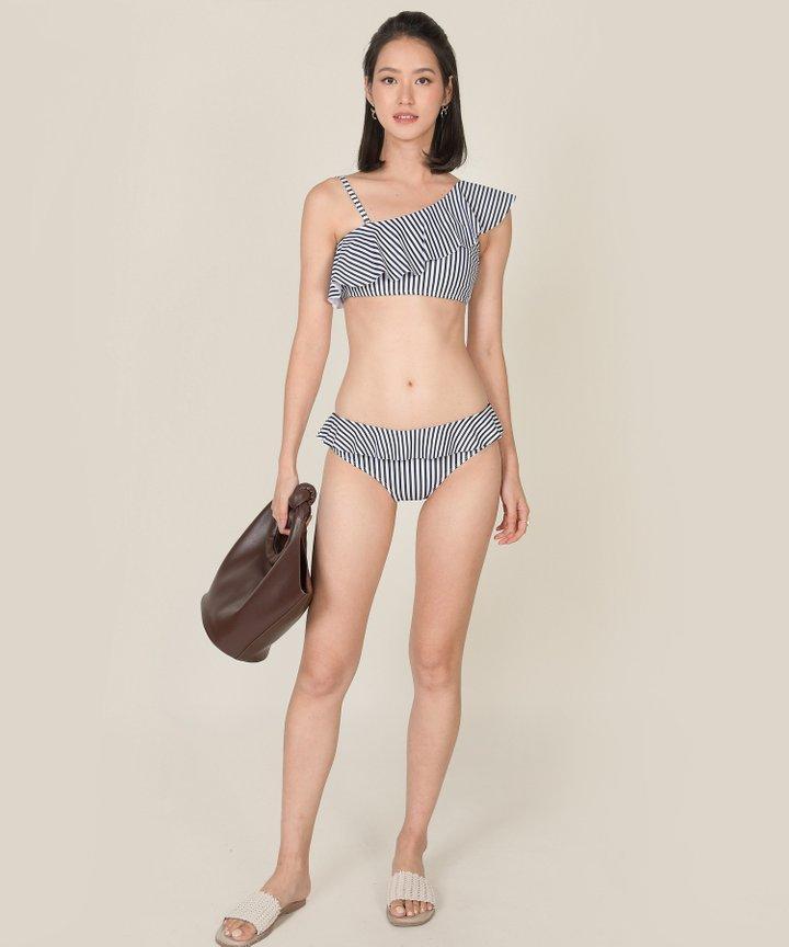 Maya Bay Striped Ruffle Bikini