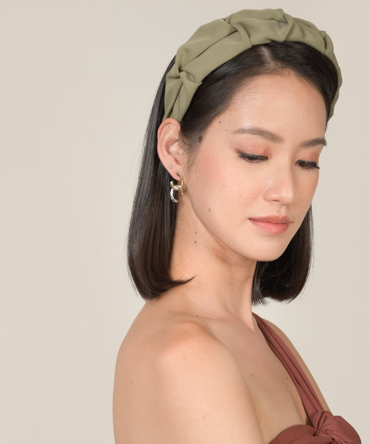Pisces Ruched Hairband - Olive