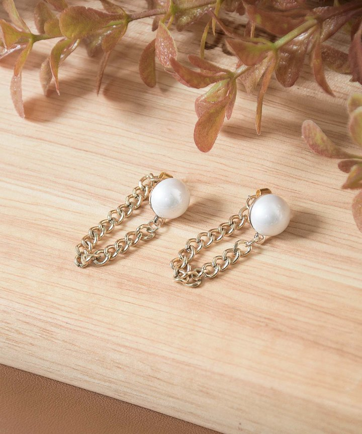 Prahran Pearl Chain Earrings