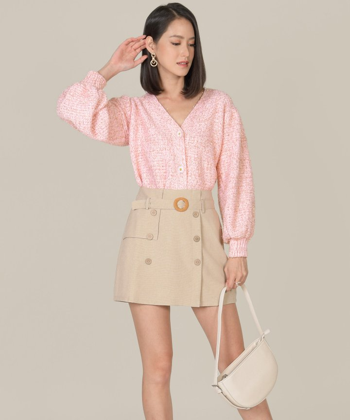 Relish Shimmer Oversized Cardigan