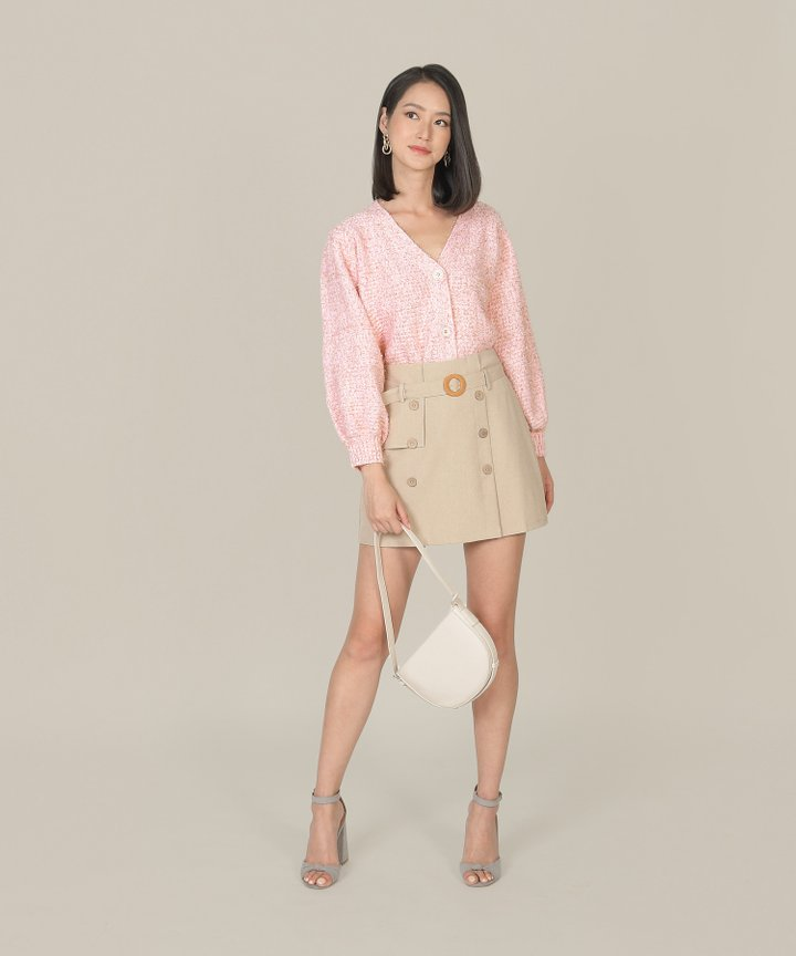 Relish Shimmer Oversized Cardigan