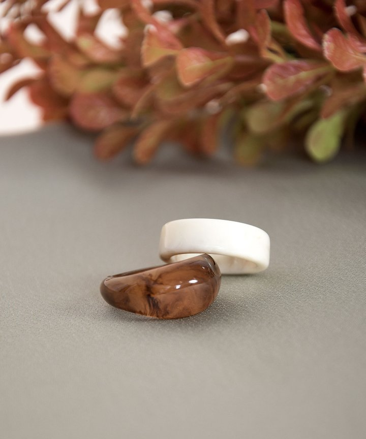 Romy Tortoiseshell Ring Set