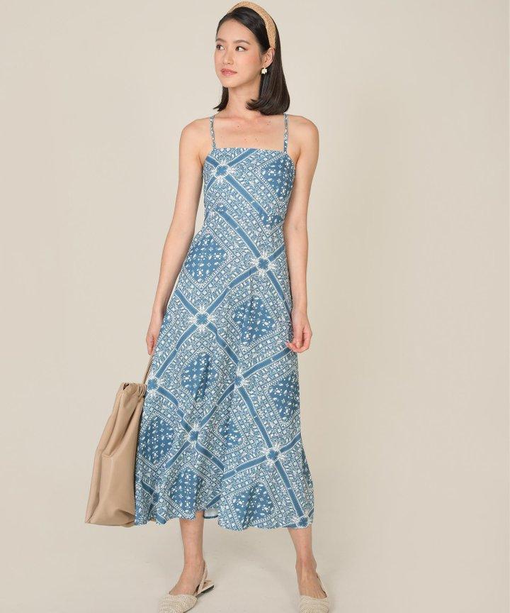 Zaha Paisley Maxi Dress