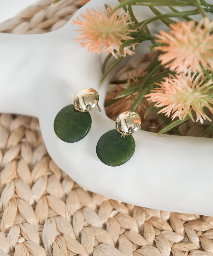 Ajo Pendant Earrings - Forest