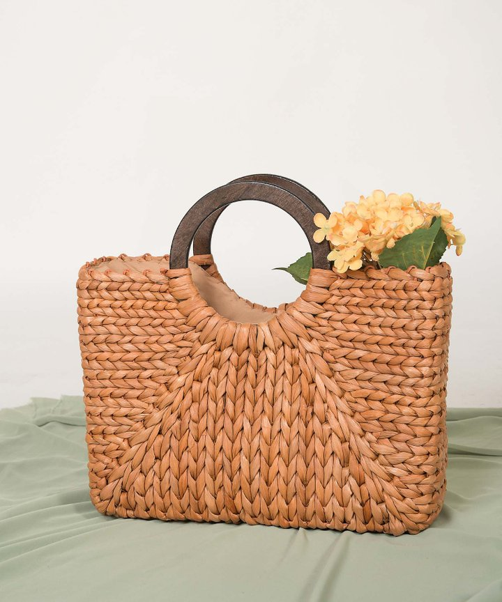 Camino Woven Tote Bag - Toasted