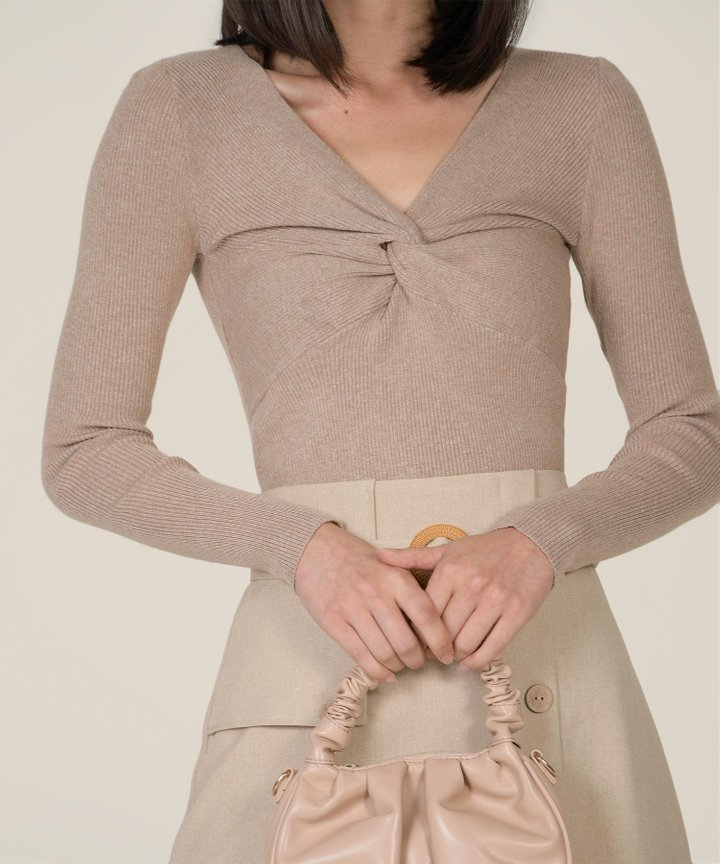 Hatia Knit Knot Top - Milk Tea (Backorder)
