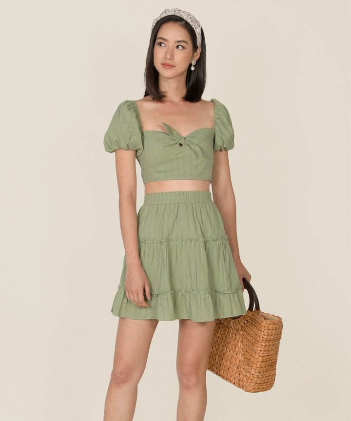 HVV Atelier Poetry Embroidered Co-ord - Pistachio