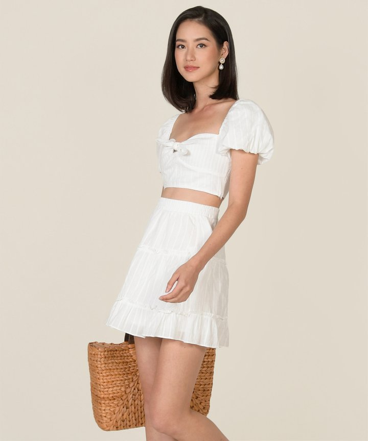 HVV Atelier Poetry Embroidered Co-ord - White