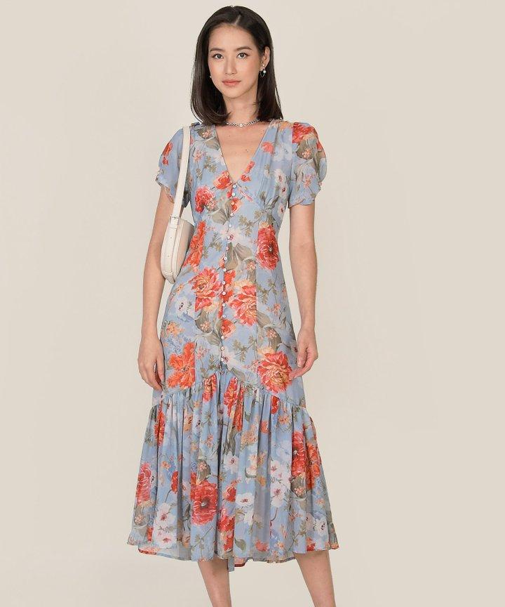 Lilibet Floral Button Down Maxi Dress (Backorder)
