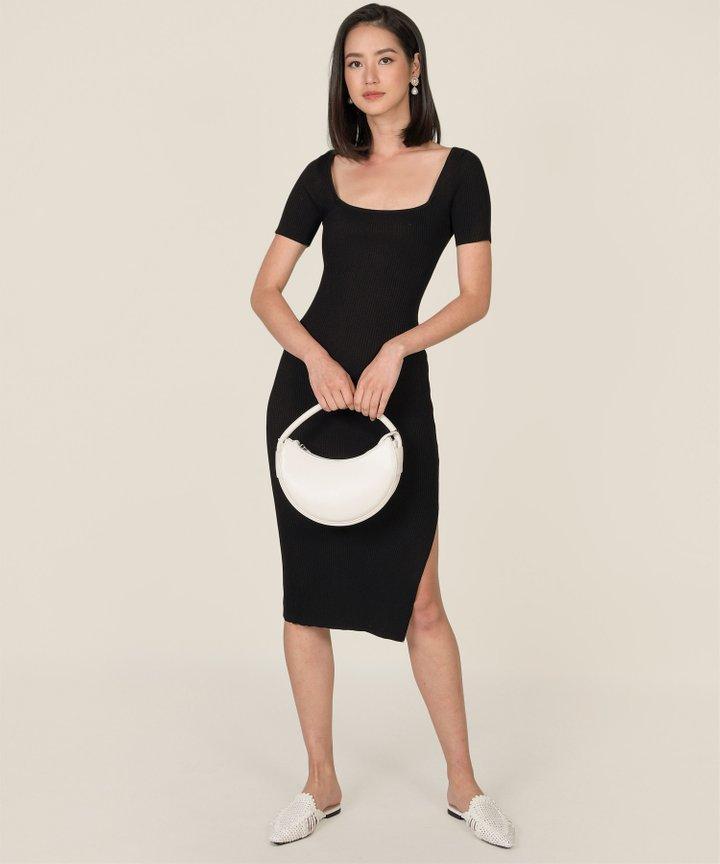 Melange Crescent Handbag