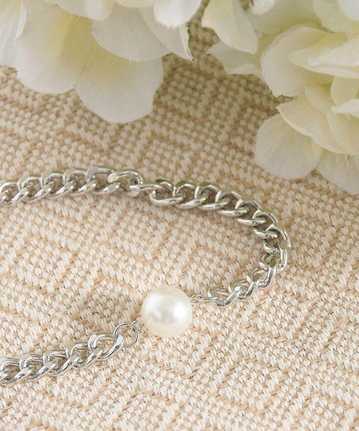 Mint Pearl Chain Choker (Backorder)