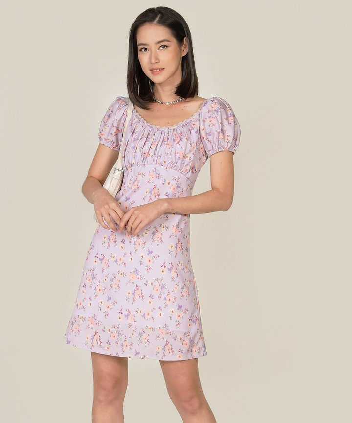 Rouen Floral Ruched Dress