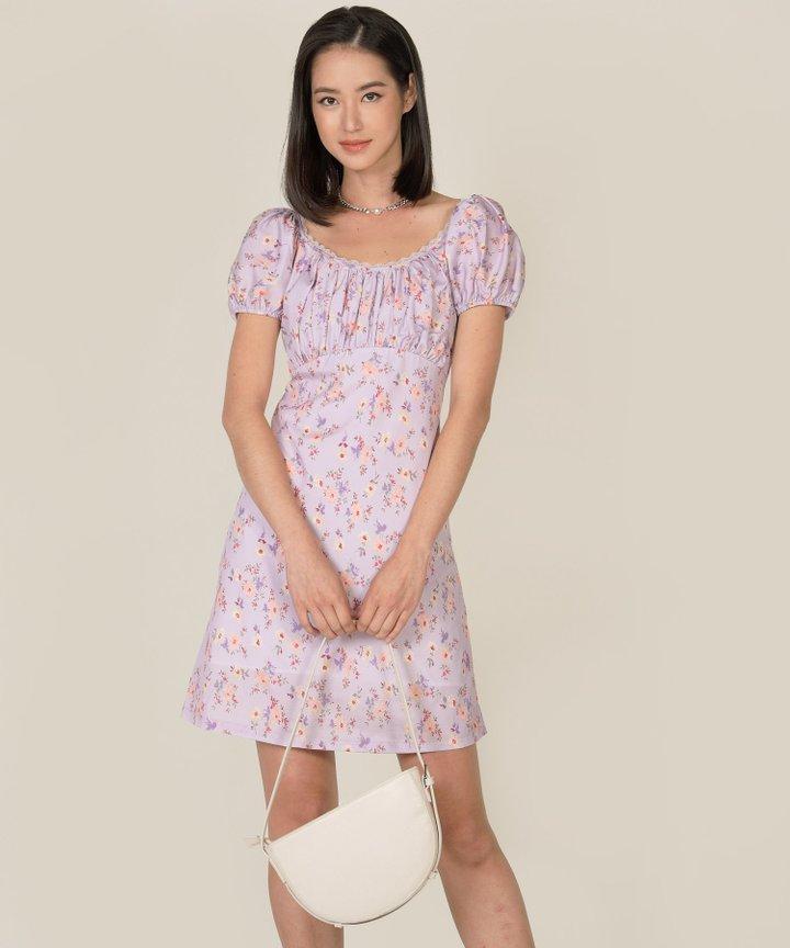 Rouen Floral Ruched Dress